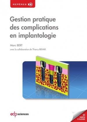 Gestion pratique des complications en implantologie - edp sciences - 9782759820399