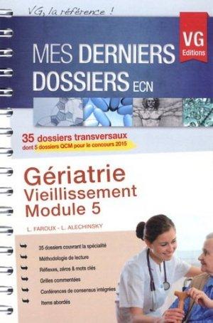 Gériatrie - Vieillissement - Module 5 - vernazobres grego - 9782818308325 -