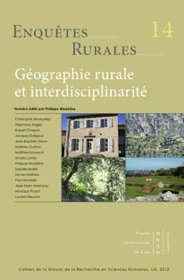 Géographie rurale et interdisciplinarité - presses universitaires de caen - 9782841334155 -