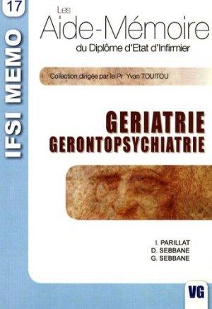 Gériatrie - Gérontopsychiatrie - vernazobres grego - 9782841367986 -