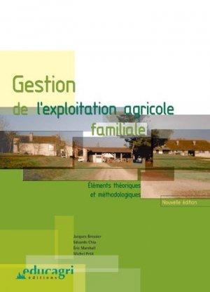 Gestion de l'exploitation agricole familiale : éléments théoriques et méthodologiques - educagri - 9782844442697 -