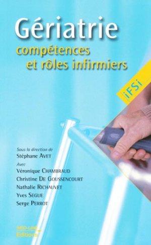 Gériatrie compétences et rôles infirmiers - med-line - 9782846780827 -