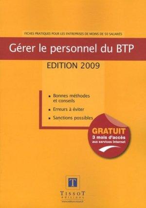 Gérer le personnel du BTP - tissot - 9782915251807 -
