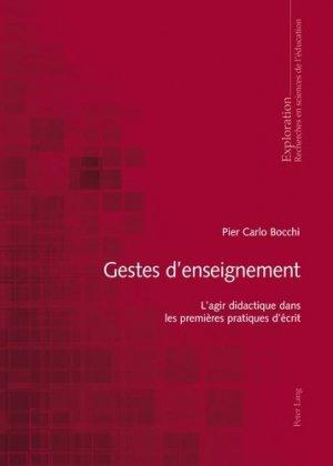 Gestes d'enseignement - Peter Lang - 9783034320122 -