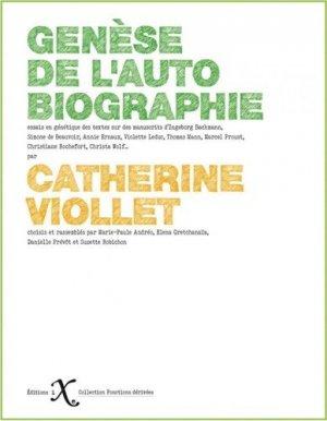 Genèse de l'autobiographie - Editions IXe - 9791090062559 -