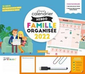 Grand calendrier hebdomadaire de la famille organisée - Larousse - 9782036005419 -