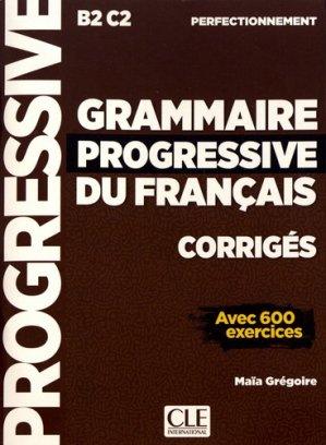 Grammaire Progressive du Français - Perfectionnement  Corrigés - cle international - 9782090384406 -