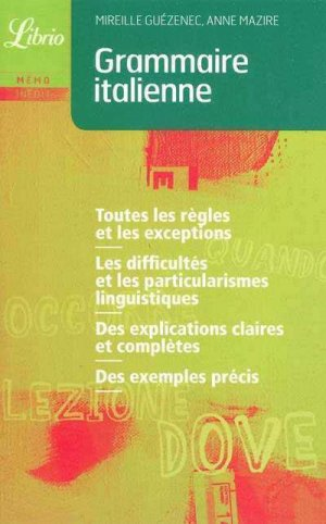 Grammaire Italienne - j'ai lu - 9782290014462 -