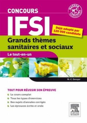 Grands thèmes sanitaires et sociaux  - Concours IFSI - elsevier / masson - 9782294742354 -
