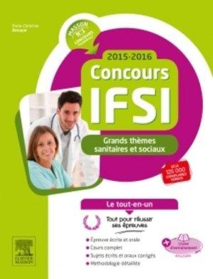 Grands thèmes sanitaires et sociaux  - Concours IFSI - elsevier / masson - 9782294743979 -