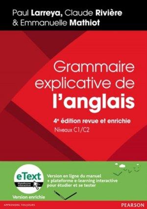 Grammaire explicative de l'anglais Niveau C1/C2 - pearson - 9782326000711 -