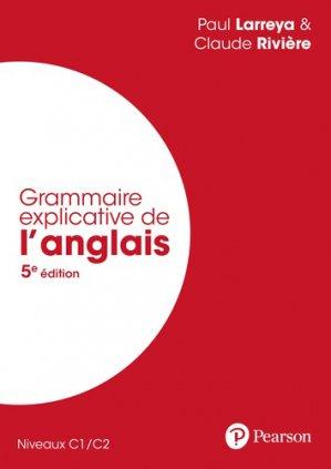 Grammaire explicative de l'anglais - pearson - 9782326002241 -