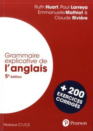 Grammaire explicative de l'anglais - 5e édition - pearson - 9782326002258 -