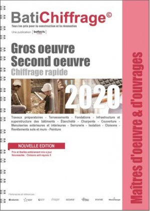 Gros oeuvre - Second oeuvre 2020 - batichiffrage - 9782358061230 -