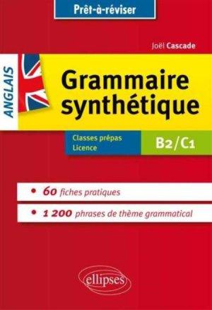 Grammaire synthétique anglais B2/C1 - ellipses - 9782729884260 -