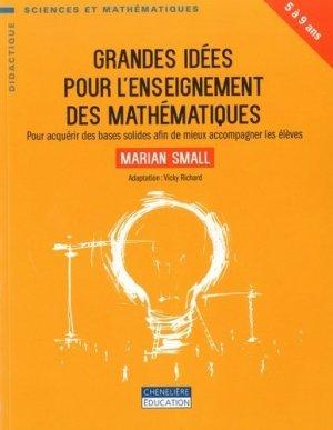 Grandes idées pour l'enseignement des mathématiques - cheneliere education (canada) - 9782765056713 -
