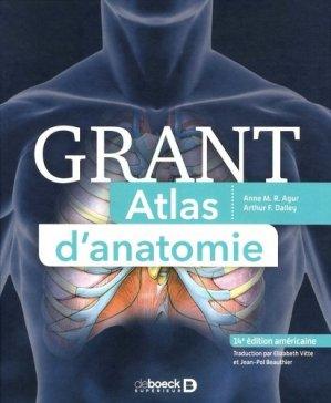 Grant Atlas d'anatomie - de boeck superieur - 9782807320802 -