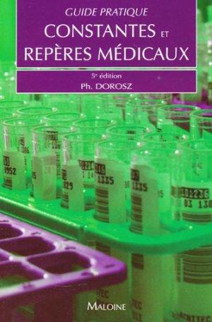 Guide pratique des constantes et repères médicaux - maloine - 9782224030223 -