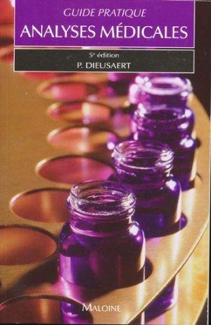 Guide pratique analyses médicales - maloine - 9782224030773 -
