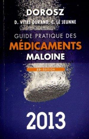 Guide pratique des médicaments 2013 - maloine - 9782224032951 -