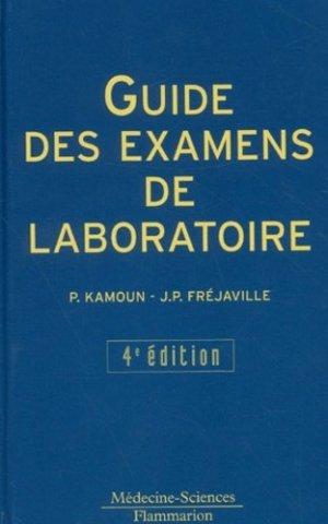 Guide des examens de laboratoire - lavoisier msp - 9782257142450 -
