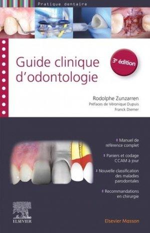 Guide clinique d'odontologie - elsevier / masson - 9782294760280 -