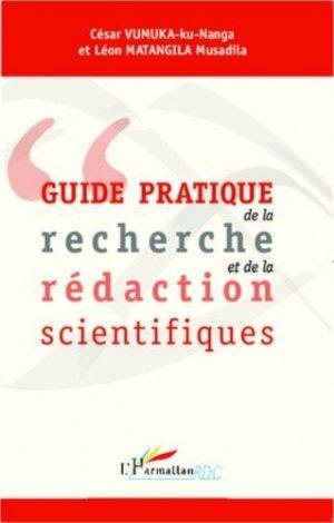 Guide pratique de la recherche et de la rédaction scientifiques - l'harmattan - 9782343001999 -
