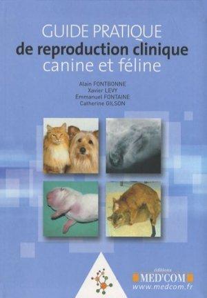 Guide pratique de reproduction clinique canine et féline - med'com - 9782354030001 -