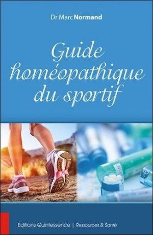 Guide homéopathique du sportif - quintessence holoconcept editions - 9782358051927 -