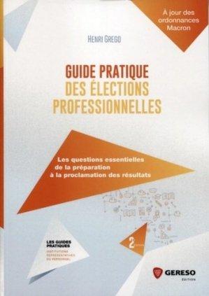 Guide pratique des élections professionnelles. 2e édition - gereso - 9782359535921 -