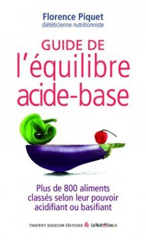 Guide de l'équilibre acide-base - thierry souccar - 9782365490061 -