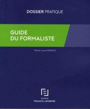 Guide du formaliste - Francis Lefebvre - 9782368932841 -