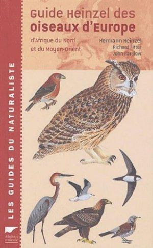 Guide Heinzel des oiseaux d'Europe, d'Afrique du Nord et du Moyen-Orient - delachaux et niestle - 9782603014868 -