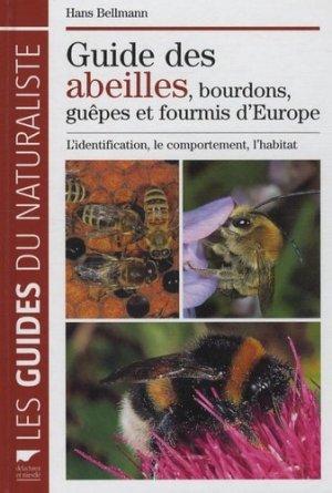 Guide des abeilles, bourdons, guêpes et fourmis d'Europe - delachaux et niestle - 9782603016510 -