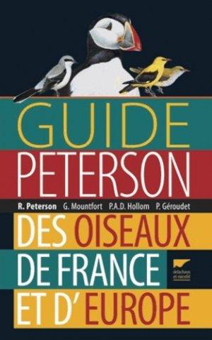 Guide Peterson des oiseaux de France et d'Europe - delachaux et niestle - 9782603019467 -