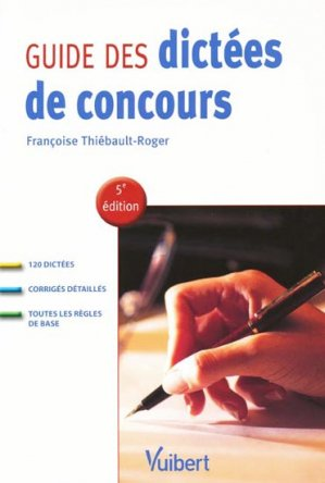 Guide des dictées de concours - vuibert - 9782711712816 -