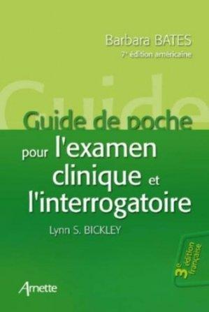 Guide de poche pour l'examen clinique et l'interrogatoire - arnette - 9782718413518 -
