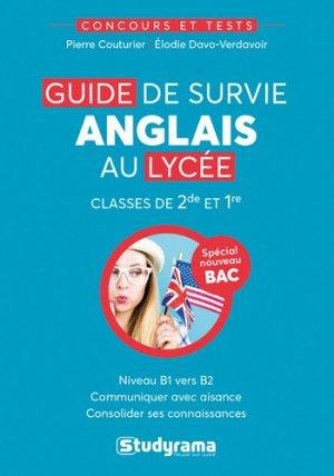 Guide de survie anglais au lycée - Studyrama - 9782759040773