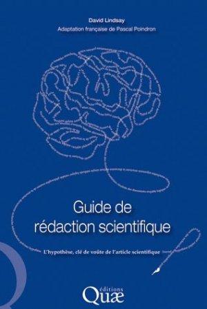 Guide de rédaction scientifique - quae  - 9782759210220 -