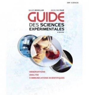 Guide des sciences expérimentales - erpi - 9782761327145 -