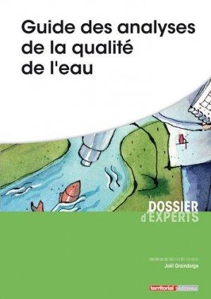 Guide des analyses de la qualite de l'eau - territorial - 9782818613474 -