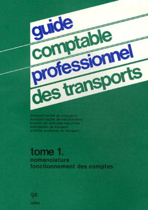 Guide comptable professionnel des transports - Tome 1 - celse - 9782850090844 -