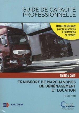 Guide de capacité professionnelle 2010 - Celse - 9782850093296 -