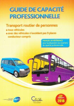 Guide de capacite professionnelle transport routier de personnes edition 2018 - celse - 9782850094040 -