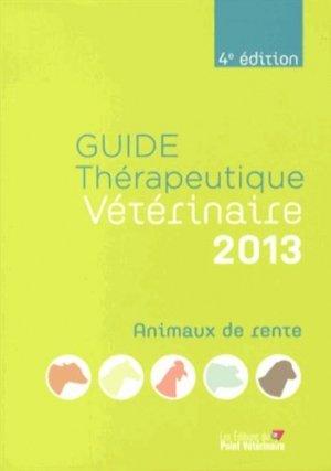 Guide thérapeutique vétérinaire 2013 - du point veterinaire - 9782863263297 -