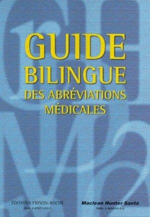 Guide bilingue des abréviations médicales - frison roche - 9782876713109 -