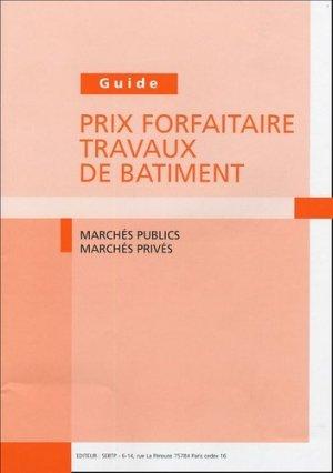 Guide Prix forfaitaire travaux de bâtiment - Fédération  Française du Bâtiment - 9782915162202 -