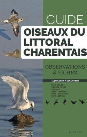 Guide oiseaux du littoral charentais - geste - 9791035306113 -