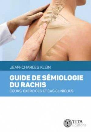 Guide de sémiologie du rachis - tita - 9791092847253 -