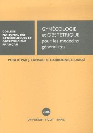 Gynécologie et obstétrique pour les médecins généralistes - vigot - 9782711482047 -